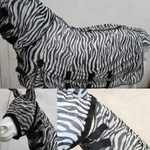 vliegendeken zebra print vaste hals en masker